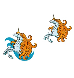 unicorn horse vector image