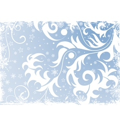 grunge floral christmas vector image