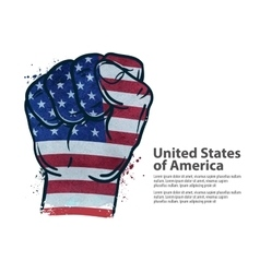Fist flag usa united states of america vector
