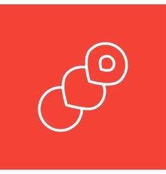 Spiral bread line icon vector