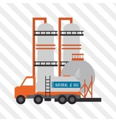 Industry truck design vector