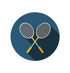 Badminton Racket flat icon Summer Vacation vector image