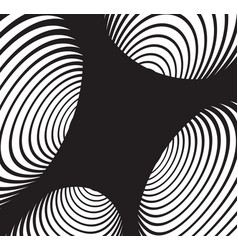 black and white abstract spiral tunnel background vector image vector image