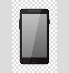 Brown modern mobile phone isolated on white vector
