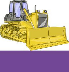 bulldozer g vector image vector image