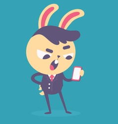 Business Bunny Talking on the Phone vector image vector image
