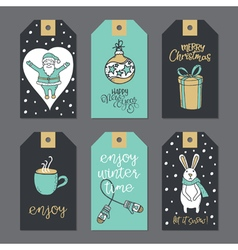 Christmas stickers for decoration vector