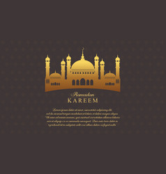 Collection greeting card ramadan card vector