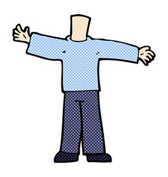 comic cartoon body with open arms mix and match vector image
