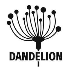 Cute dandelion logo icon simple style vector
