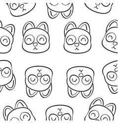 Hand draw of animal doodle style vector