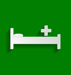 Hospital sign paper whitish vector