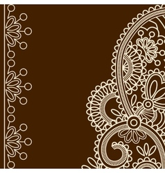 Mehndi frames vector image vector image