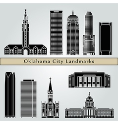 Oklahoma city landmarks and monuments vector image