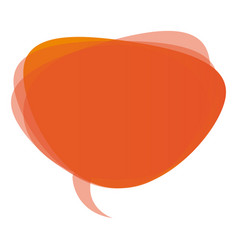orange round chat bubble icon vector image