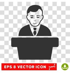 Politician eps icon vector