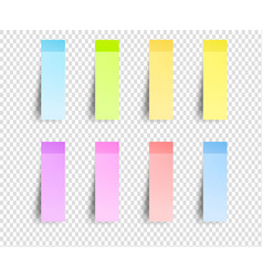 Post sticker sticky papers bookmarks vector
