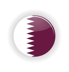 Qatar icon circle vector