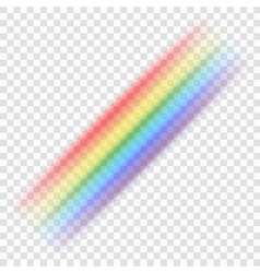Rainbow icon realistic 4 vector image