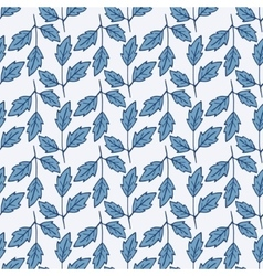 Seamless pattern with leaves vector image vector image