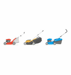 Set of lawnmower vector