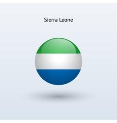 Sierra leone round flag vector