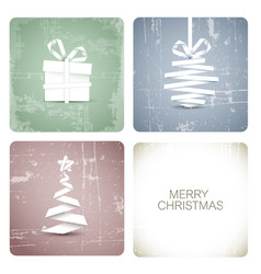 simple grunge christmas card vector image vector image