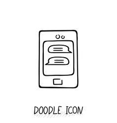Smartphone doodle icon vector image