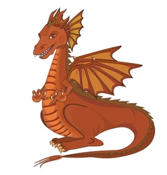 Smiling cartoon dragon vector