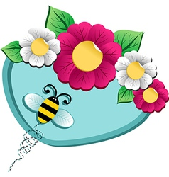 Spring time flower and Bee vector image vector image