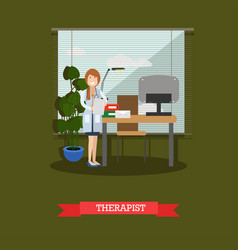 therapist concept in flat vector image