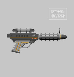Video game weapon Virtual reality device Rifle vector image vector image