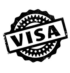 Visa rubber stamp vector