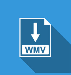 wmv file document icon download wmv button icon vector image vector image