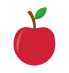 Whole apple icon vector