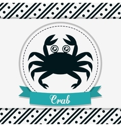 Crab icon sea animal cartoon graphic vector