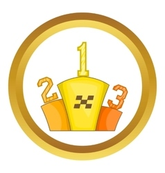 Prize pedestal icon vector