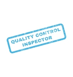 Quality control inspector rubber stamp vector