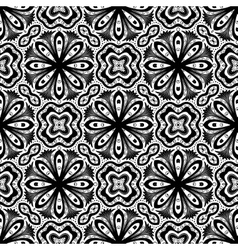 Flower pattern intricate luxury damask vector