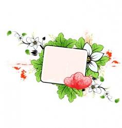 floral valentines vector image