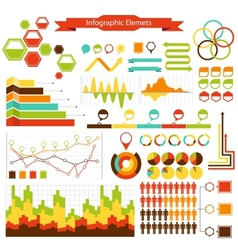 info graphics elements collection vector image