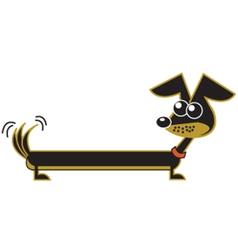 Cute dachshund vector