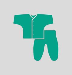 Baby wear icon vector