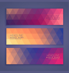 Abstract geometric shape banners set vector
