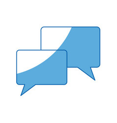 Speech bubbles dialog chating message icon vector