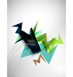 Geometric shape line lightning business background vector