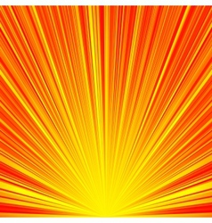 Abstract red and orange stripes burst background vector
