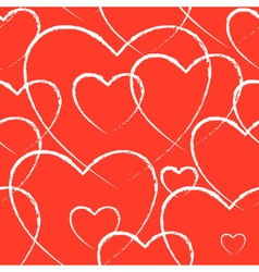 Seamless background heart vector