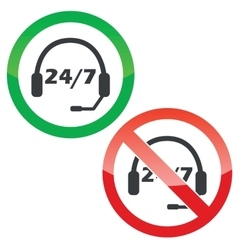 Support permission signs set vector