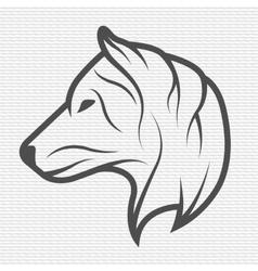 Wolf symbol logo emblem vector image